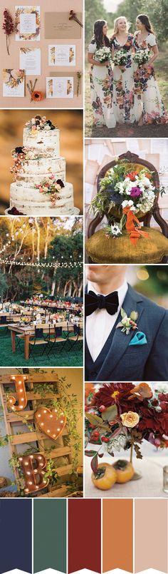 Pretty and Glam Rustic Wedding Inspiration |www.onefabday.com