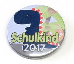 Button Schulkind 2017 Dino