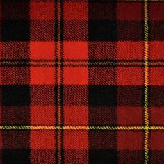 Plaids and Checks Gallery: Royal Edition, Kilt Red, 80% Wool; 20% Nylont