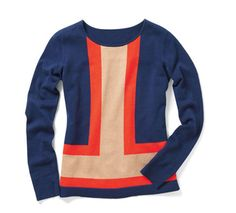 colorblock jaclyn smith sweater    K Mart? Really?  Super cute!