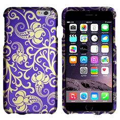 "myLife Hydrangea Purple and Aged White {Swirling Vines Spring Floral Blossoms} 2 Piece Snap-On Rubberized Protective Faceplate Case for the NEW iPhone 6 Plus (6G) 6th Generation Phone by Apple, 5.5"" Screen Version ""All Ports Accessible"" myLife Brand Products http://www.amazon.com/dp/B00UB8CU6S/ref=cm_sw_r_pi_dp_gCAhvb10ZHZKN"