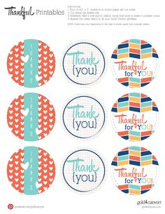 Show your attitude of gratitude with adorable, FREE printables! Attach these gift tags to any gift to add that extra special note of appreciation.