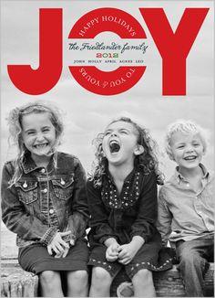 Looking ahead!  Happy In Joy Christmas Card