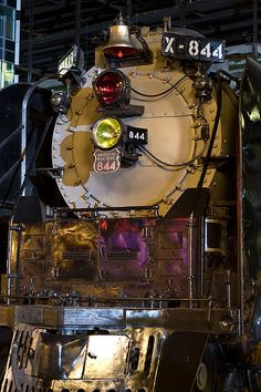 Union Pacific 844 was one of 10 locomotives that were ordered by Union Pacific in 1944 and designated as class FEF-3. The FEF-3 class represented the epitome of dual-service steam locomotive development; funds and research were being concentrated into the development of diesel-electric locomotives. Designed to burn coal, they were converted to run on fuel oil. Like the earlier FEF-2 class, FEF-3 locomotives were designed as passenger engines.