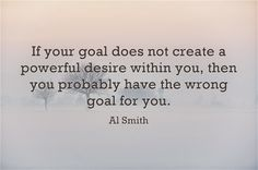 About Your Goals >>>