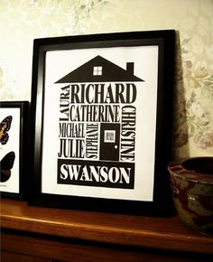 Subway Art using names - what a really neat idea for family reunions and Christmas gifts!