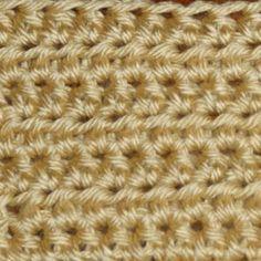 Rows of Half Double Crochet Stitch