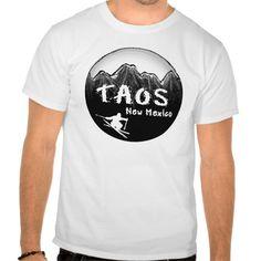 Taos New Mexico artistic skier T Shirt, Hoodie Sweatshirt
