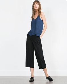 Image 1 de TOP NUISETTE de Zara Topshop Boutique, Casual Couture, Zara New, Rainy Season, Zara Women, Business Casual, Work Wear, Going Out, Camisole Top