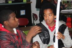 Lakeside Middle School students in Lake Village (Chicot County) collaborate on their project-based designs.