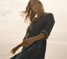 ARGAN DRESS -- INDIGO | DÔEN | www.shopdoen.com