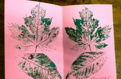 Printmaking With Leaves -Autumn Art Lessons