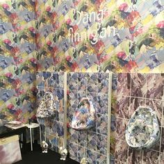 We are now open for business! These tiles and urinals will be on show from Today until Tuesday @icff_nyc! Stand 2420 #icff2016 #tiles #dslooking #dspattern #dscolour #abstract #geometrics #print #patterndesign #surfacepattern #surfacepatterndesign #interiors #interinspo #interiordesign #interioraccessories #homewares