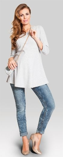 Miss you cotton jersey maternity top Maternity Jeans, Maternity Tops, Maternity Fashion, Pregnancy Jeans, Maternity Style, Miss You, New Baby Products, Tunic Tops, Mom