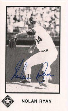 Rare Collectible Baseball Legend Nolan Ryan Autograph Signed Promo Card