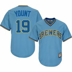 Men's Robin Yount Milwaukee Brewers Majestic Blue Official Cooperstown Cool Base Jersey