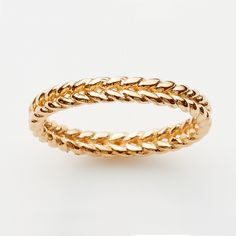 Braid Ring in Rose Gold Plate  http://pinkloulou.com/pink-loulou-entwined-1/Braid-Ring-in-Rose-Gold-Plate-Small