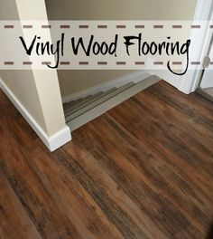 Vinyl Wood Flooring. Not A Bad Option For A Cheap/quick Fix If The