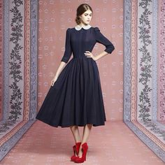 Ulyana Sergeenko long sleeve dress