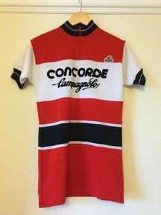 NOS Concorde Campagnolo Team Vintage Cycling Jersey Perfect For L'Eroica   eBay