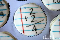Bake some of these fun back-to-school cupcakes for your kids. :)