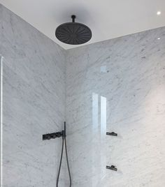 Vola shower composition in Brushed Black Chrome
