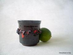 Glit HF, Lava glazed Glit Hf ,Planter with lava decor. Icelandic ceramics, by Cherryforest on Etsy