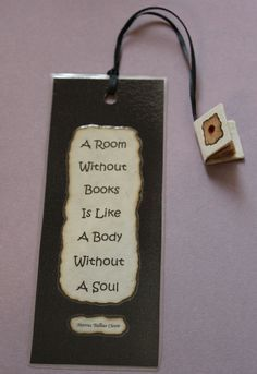 Handmade Bookmark Featuring Tiny Book Tassel by StuwahaCreations, $10.00