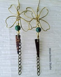 Lovable butterfly design golden earring with beads