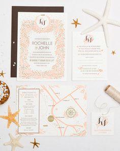 956 best wedding invitations images on pinterest wedding beachy breezy beautiful custom letterpress wedding invitation 16 best free home design idea inspiration filmwisefo
