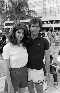 Kirstie Alley & Parker Stevenson, 1984. They looked like they had fun. Look at him!