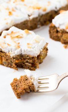 (Paleo & Vegan) Carrot Cake with Whipped Coconut Frosting ~ so good, a joy to have cake again.