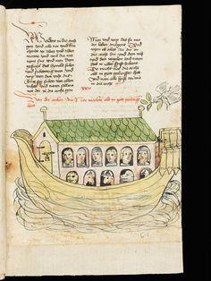 "St. Gallen Kantonsbibliothek, Vadianische Sammlung VadSlg Ms. 343c ""Historienbibel"" from the workshop of Diebold Lauber, Vol. 1: Old Testament. Hagenau · middle of the 15th century"