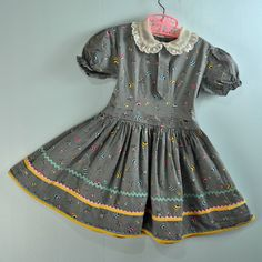 1940s / 40s little GIRLS BABYDOLL dress by rockstreetvintage