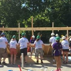 We are stepping way out of our comfort zone and building a house!!!  The Home Office has partnered with Habitat for Humanity to build a house for a family here in Knoxville, TN. Follow us on Snapchat to see all of the behind the scenes fun from this exciting adventure. #habitatforhumanity #standoutforgiving #altardstate #giveback @habitatforhumanity