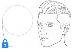 How to Draw a Face From 3/4 View