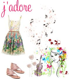 """J'adore"" by katie050 ❤ liked on Polyvore"