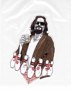 TYLER STOUT THE BIG LEBOWSKI RARE STICKER THIS IS A PRIVATE RESIDENCE Pros Cons #PopArt Film Big, Film Movie, Joel And Ethan Coen, The Big Lebowski, Film Music Books, Tv On The Radio, Movie Theater, Bowling, Tattoo Ideas