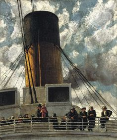 Emigrants by Dame Laura Knight, (English 1877-1970)