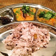 chicken curry and sambar