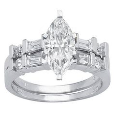 1.28 Carat Marquise Cut / Shape GIA Certified 14K White Gold Channel Set Baguette And Round Diamond Wedding Set ( I Color , I1 Clarity ) Chandni Jewels,http://www.amazon.com/dp/B00BRMTSD0/ref=cm_sw_r_pi_dp_CNB8sb09QXN9CX88