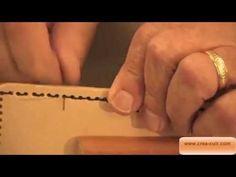 Couture à la main du cuir - YouTube                                                                                                                                                     Plus