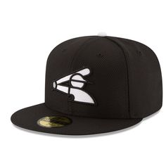 Men's Chicago White Sox New Era Black Game Diamond Era 59FIFTY Fitted Hat