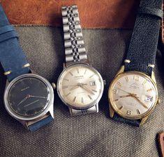 Stunning lot of three vintage watches. Cadiz, Rolex Submariner, Watch Deals, Quality Watches, Bulova, Vintage Watches, Cool Watches, Omega Watch, Ebay