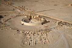 the ancient city of Palmyra in Syria
