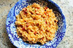 Sundried Tomato Risotto                                                       Recipe Here:http://thepioneerwoman.com/cooking/2010/03/sundried-tomato-risotto/