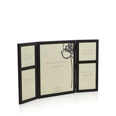 Betty Jackson.Black Designer matte black hinged photo frame-   Debenhams