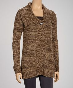 Take a look at this Chocolate Sweater - Women by Carol Rose on #zulily today! $25 !!