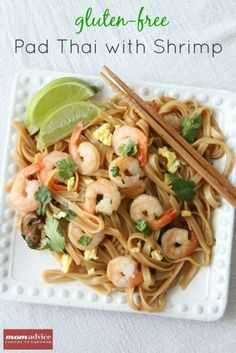 Gluten-Free Pad Thai With Shrimp from MomAdvice.com.