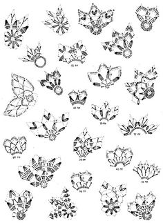 Crochet snowflakes scheme